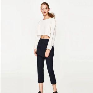Zara Cropped Textured Sweater